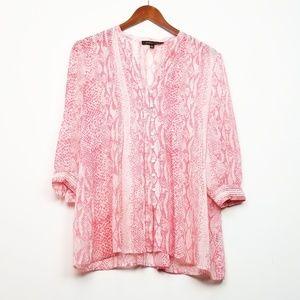 Cynthia Steffe Pink Snake Print Blouse Size XS